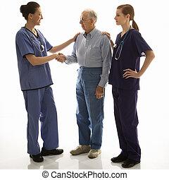 médecins, patient.