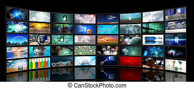 média, écrans