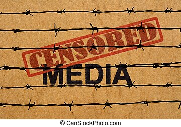 média, censuré