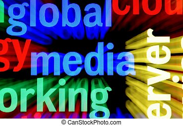 média, concept