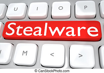 média, concept, -, stealware