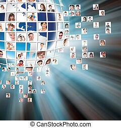 média, concept, technologie