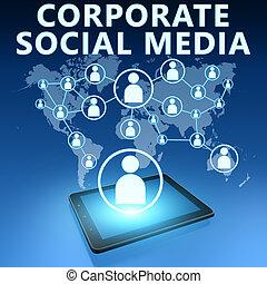 média, constitué, social