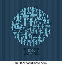 média, infographic, social