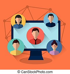média, internet, informatique, gens, communication