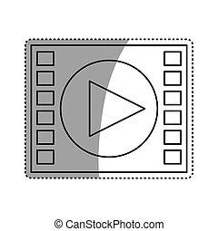 média, joueur vidéo