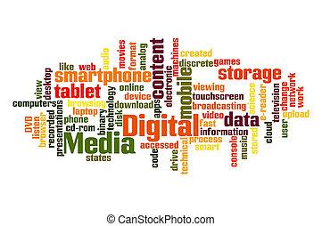 média, numérique
