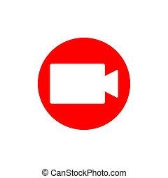média, signe., social, vidéo, enregistrement, confection, symbole