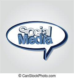 média, social