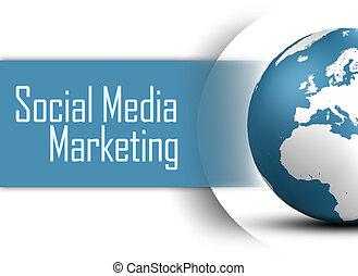 média, social, commercialisation
