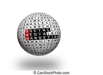 média, social, smm, commercialisation, 3d