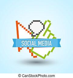 média, társadalmi, háló