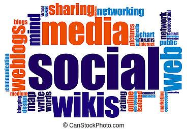 média, társadalmi