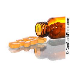médicament, pilules, dans, bouteille