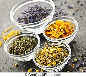 médicinal, séché, herbes