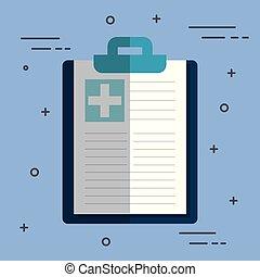médico, área de transferência, desenho