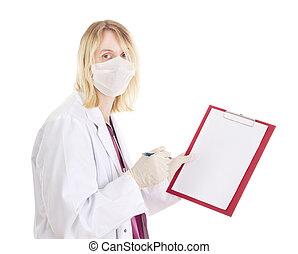 médico, área de transferência, doutor