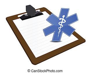 médico, área de transferência, ilustração