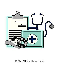 médico, área de transferência, mala