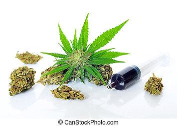 médico, óleo, resíduo, marijuana