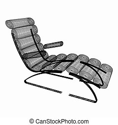 médico, 3d, cadeira, ilustração, cosmetology.