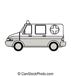 médico, ambulância, ícone