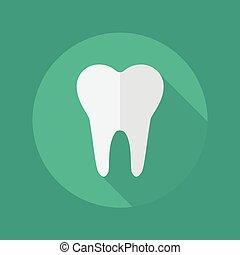 médico, apartamento, ícone, odontologia, símbolo
