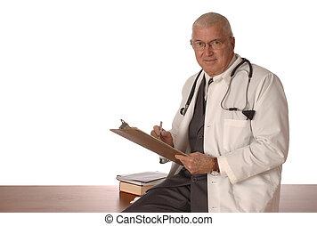 médico, blanco