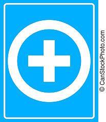 médico, branca, crucifixos, ícone