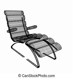 médico, cadeira, cosmetology.