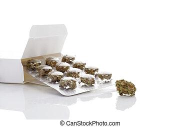 médico, cannabis.