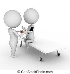 médico, chequeo