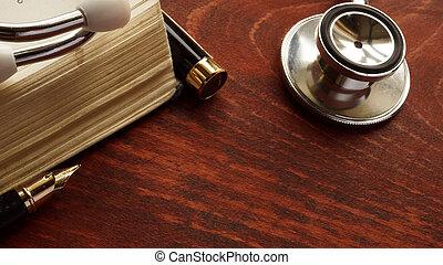 médico, concept., cuidado