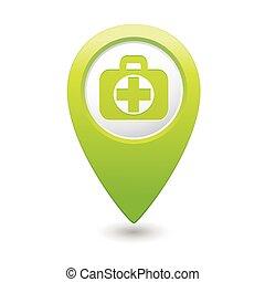 médico, crucifixos, ícone