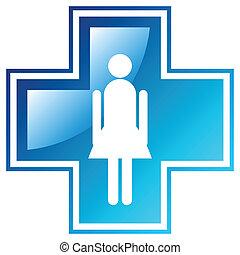 médico, crucifixos