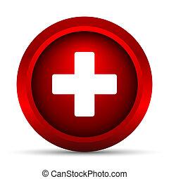 médico, cruz, icono