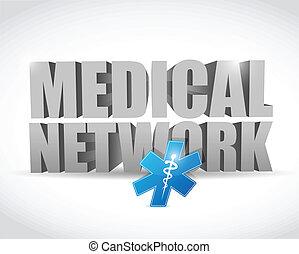médico, desenho, rede, ilustração