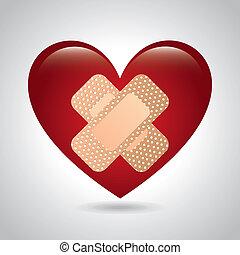médico, diseño, corazón