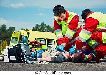 médico, emergencia, servicio