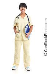 médico, enfermeira