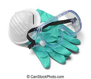 médico, engranaje seguridad