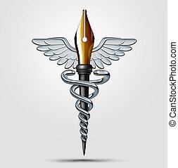 médico, escritura