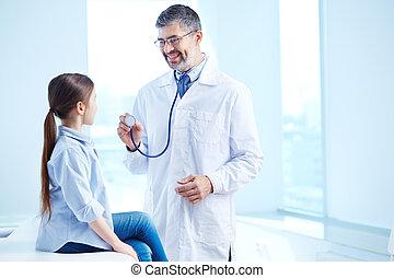 médico, exame