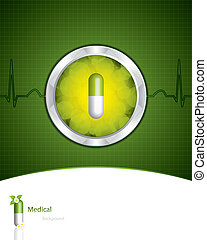 médico, experiência verde
