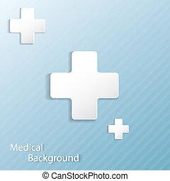 médico, fundo, abstratos