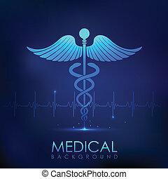 médico, fundo, cuidados de saúde