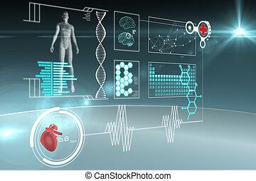 médico, interface