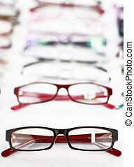 médico, lentes