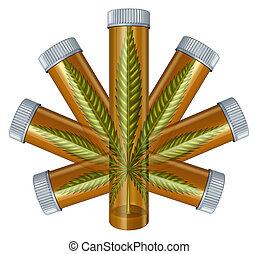 médico, marijuana, concepto