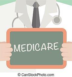 médico, medicare, tábua
